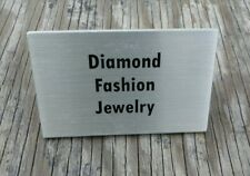 Small Retail Tool Display Standing Name Plate Aluminum Diamond Fashion Jewelry *