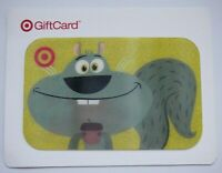 Target Gift Card Lenticular - Squirrel w/ Acorn on Backing - 2008 - No Value