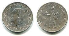 "5 Kronor Schweden 1962 Silber ""80 Geburtstag König Gustav VI"""