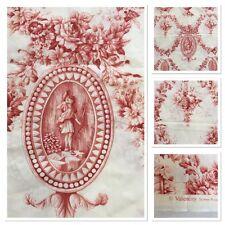 Toile Du Jouy Valancay Floral Boy Design Rust Ivory 122 cm x 140cm Piece