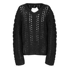 YOHJI YAMAMOTO oversized black chunky open cable knit jumper sweater 3-JP/8 NEW
