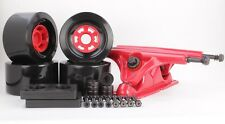 90mm 78a Black Longboard Wheels and Red Reverse Kingpin Truck Combo Set