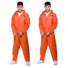 2 x Herren orange überführen Monteuranzug Kette Gang Gefangene Overall Kostüm