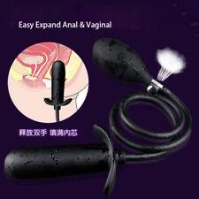 Inflatable Anal Butt Plug HUGE Dildo Vagina Dilator Masturbators Toys Female Men