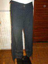 Pantalon bouffant coton bleu marine COP COPINE Mikelon 40 bas à resserrer 18AO17