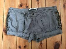 FITCH Damas Seta Marrón ABERCROMBIE & Pantalones cortos de Superdry UK8