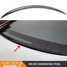 US Gloss Black Water Retaining Wing Trunk Spoiler Cover For Tesla Model 3 2018+