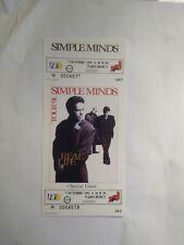 Simple Minds Unused Ticket Palais Omnisports De Bercy France October 7 1991