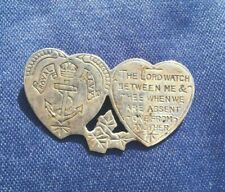 More details for suffragette wspu sailor  given sweetheart brooch - ww1 - silver - 1915 very rare