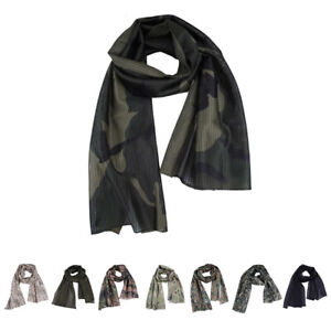 Military Tactical Camouflage Scarf Mesh Breathable Headband Mesh Scarf MenB`ju