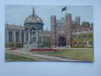 Cambridge Great Court Trinity College ARQ Quinton Vintage Artist Signed Postcard
