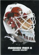 09/10 BETWEEN THE PIPES MASKED MEN II MASK SILVER #MM-27 BRADEN HOLTBY *44362