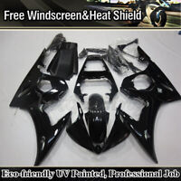 For Yamaha YZF R6 2003-2004 R6S 2006-2009 Gloss Black Fairing Kit Injection Body