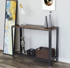 Industrial Console Table Rustic Metal Furniture Vintage Hallway Side Storage