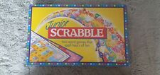 Junior Scrabble Board Game by Mattel **complete With Instructions 1989