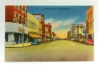 Valdosta Georgia Street Scene Old Cars Linen Vintage Postcard