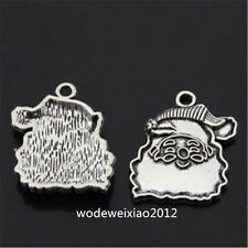 10pc Tibetan Silver Pendant Charms Santa Claus Jewelry wholesale  P970