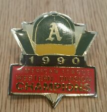 Oakland Athletics A's American League Champions 1990 Pin Western Division