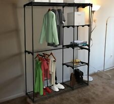 Closet Organizer Storage Solution for Clothes Heavy Duty Metal Hanging Shelves