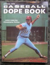 Official 1978 Baseball Dope Book by the Sporting News - Steve Carlton Cover