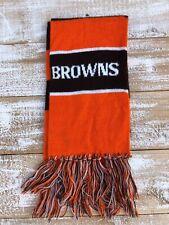 VTG Cleveland Browns Knit Neck Scarf Brown/Orange