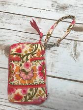Vera Bradley Folkloric Zip-Around Floral Smartphone Wristlet Organizer Wallet