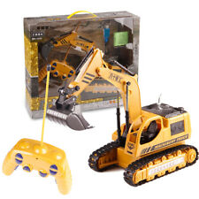 Remote Control 5ch RC Excavator Toy Truck Digger Lights Construction Kids Gift