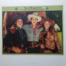Three Mesquiteers 1940 Cowboy Dixie Cup Ice Cream Photo Premium Original