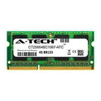 2GB DDR3 PC3-8500 1066MHz SODIMM (Crucial CT25664BC1067 Equivalent) Memory RAM