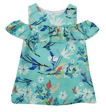 Rare Editions New Infant Girls 2Pc Blue Floral Shirt Dress 6-9M