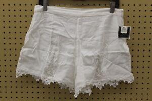 Volcom Women's Sparks Fly Shorts (White, Size Large)
