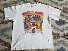CHICAGO BULLS salem 1993 3peat world champs comic book t-shirt shirt youth XL