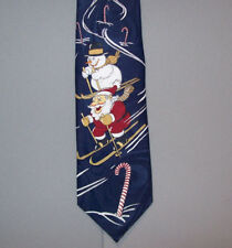 """Carnival by Rack SANTA SKIING Holiday 58"""" Polyester Neck Tie made in UK #782"""