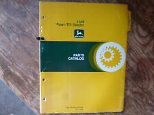 John Deere 1500 Powr-Till Seeder Parts Catalog Manual Book Original Pc-1556