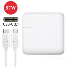 87W Replacement AC Adapter Charger Apple MacBook Pro 2016 2017 With 3.1 USB C