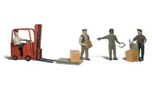 Woodland Scenics A1911 Travailleurs Avec Gabelstapl, Figurines Miniatures H0 (1: