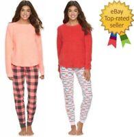 SO Juniors Pajamas 2 Piece Sherpa Soft Pajama Set size S NEW