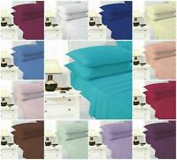 Luxury Full Flat Sheet Bed Sheets 100% Cotton Single Double King Super King Size