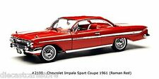 SUNSTAR 1961 CHEVROLET CHEVY IMPALA SPORT COUPE RED 1/18 DIECAST SS2100
