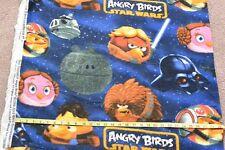 "Star Wars Angry Birds Character Toss Fleece Fabric Anti Pill 1.97 Yd L x 60"" W"