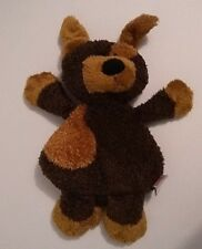 "Brown & Gold Triangle Dog Ganz Triangamals Floppy Stuffed Plush Beanbag Toy 12"""
