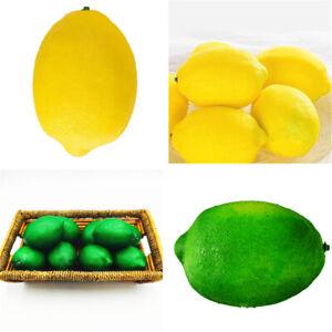 2~6X Lifelike Artificial Plastic Fake Fruit Lime Lemon Home Kitchen Party Decor