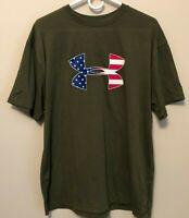 UNDER ARMOUR USA BIG LOGO FLAG SHIRT SIZE 2XL XL  L MEN NWT $$$$