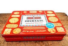 Vintage Mid Century Huntley & Palmers Cocktail Assorted Biscuit Storage Tin