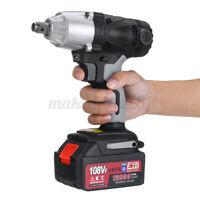 1/2'' 320NM Electric Cordless Impact Wrench Drill Tool 12800mAh Battery Charger