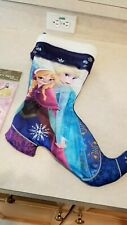 Disney Theme Parks Frozen Anna and Elsa Christmas Holiday Stocking Boot - damage