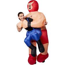 Selbstaufblasbares Unisex Kostüm Wrestler Huckepack aufblasbar Fasnacht Karneval
