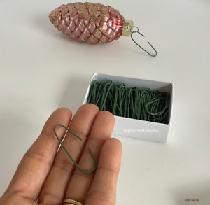 """Christmas Tree Ornament GREEN HOOKS 1 3/8"""" Inch 120 Piece Pack"""