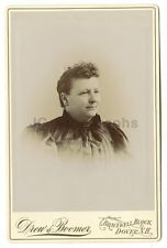 19th Century Fashion - Original 19th Century Cabinet Card Photo - Dover, NH