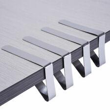 4X Edelstahl Tischtuch Tischdecke Klammern Tischklammer Halter Clip Tisch D S6A7